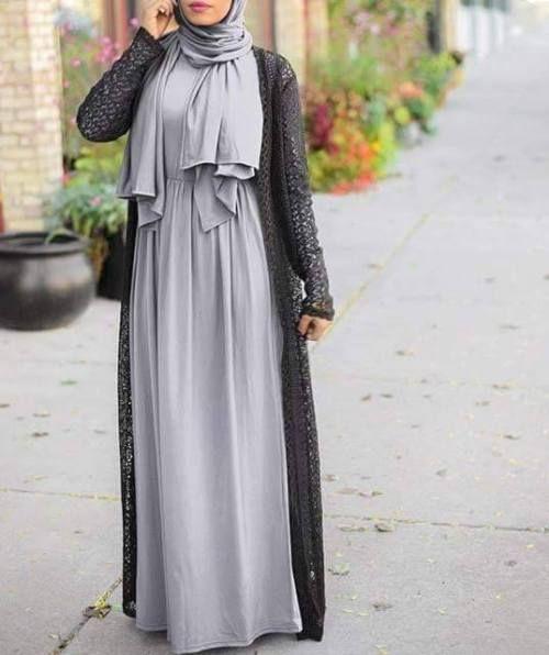 Pinterest: @eighthhorcruxx. long black lace cardigan with maxi ...
