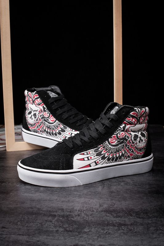 9d4b910654 VANS Vince SK8 Hi skull head locomotive wind high to skateboard shoes  unisex shoes Model  2206  Vans