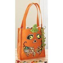 Pumpkin Treat Bag Felt Craft Kit - Herrschners
