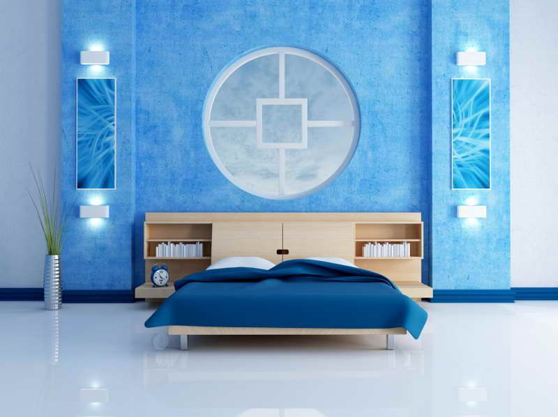 Decoration  Blue Modern Bedroom   The Nice Style Of The Different Shades Of Blue  Paint. Decoration  Blue Modern Bedroom   The Nice Style Of The Different