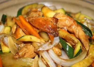 Receta del salteado de pollo con verduras