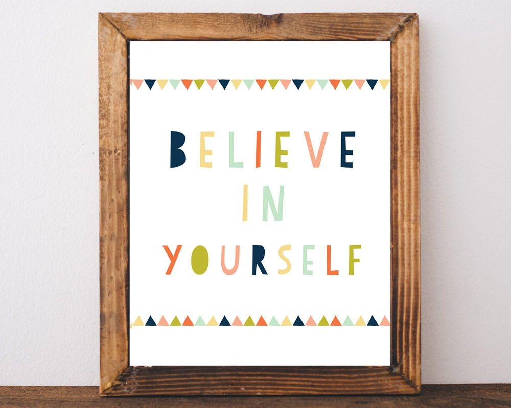believe in yourself kids wall art childrens prints kids prints