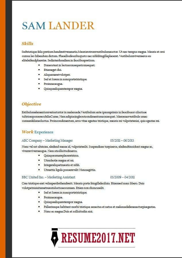 resume format 2018 16 latest templates in word pertaining to