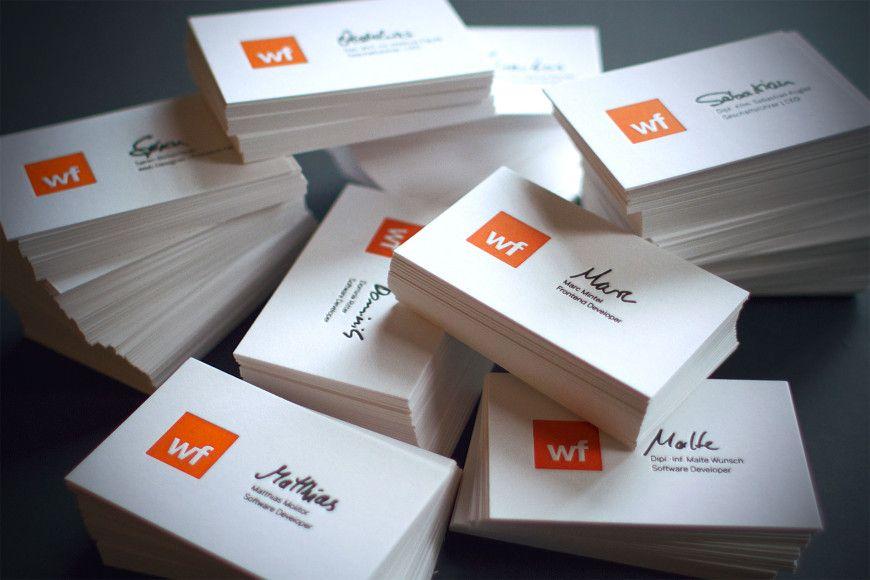 Letterpress Visitenkarten Auf Gmund Cotton Mit Hks Lovely