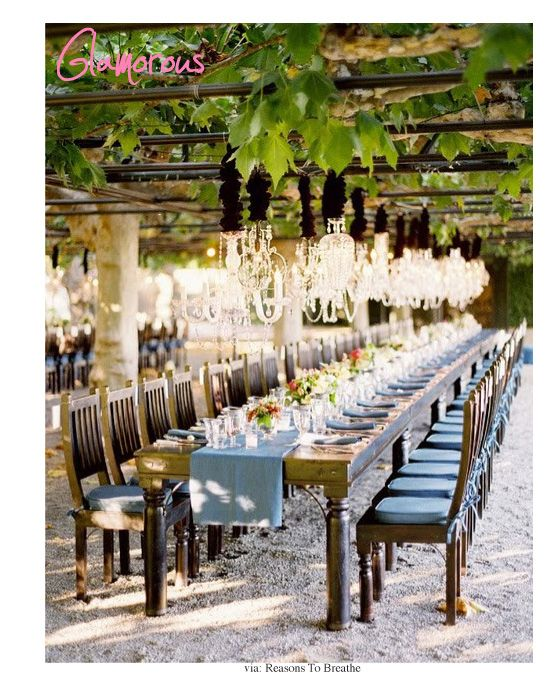 glam line of chandy's #outdoor #dining