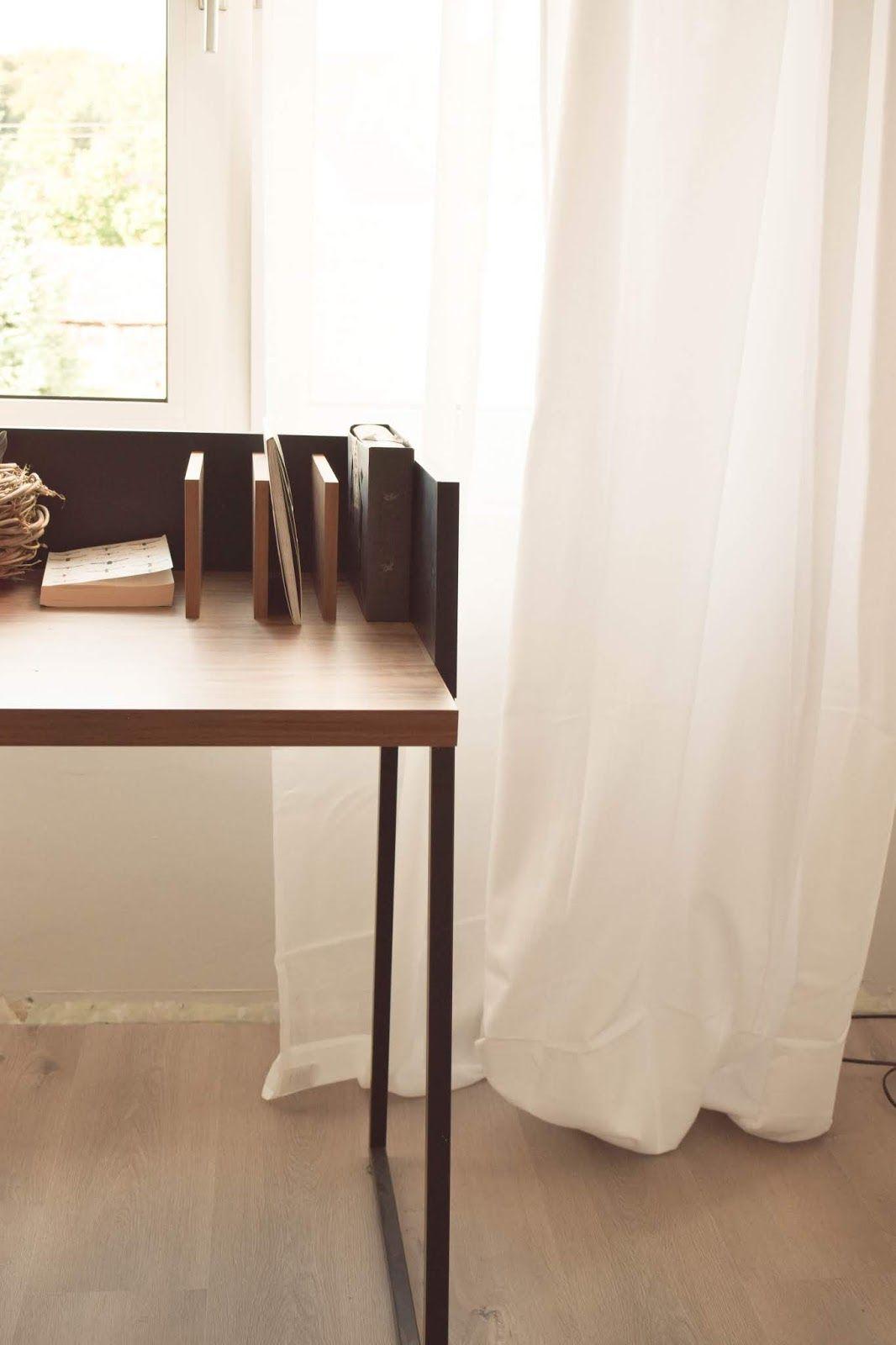 Interior Einrichtung Vorhang Schlafzimmer Blickdicht Schreibtisch Filigran  Deko Dekoidee Stilvoll Schlicht Einrichten