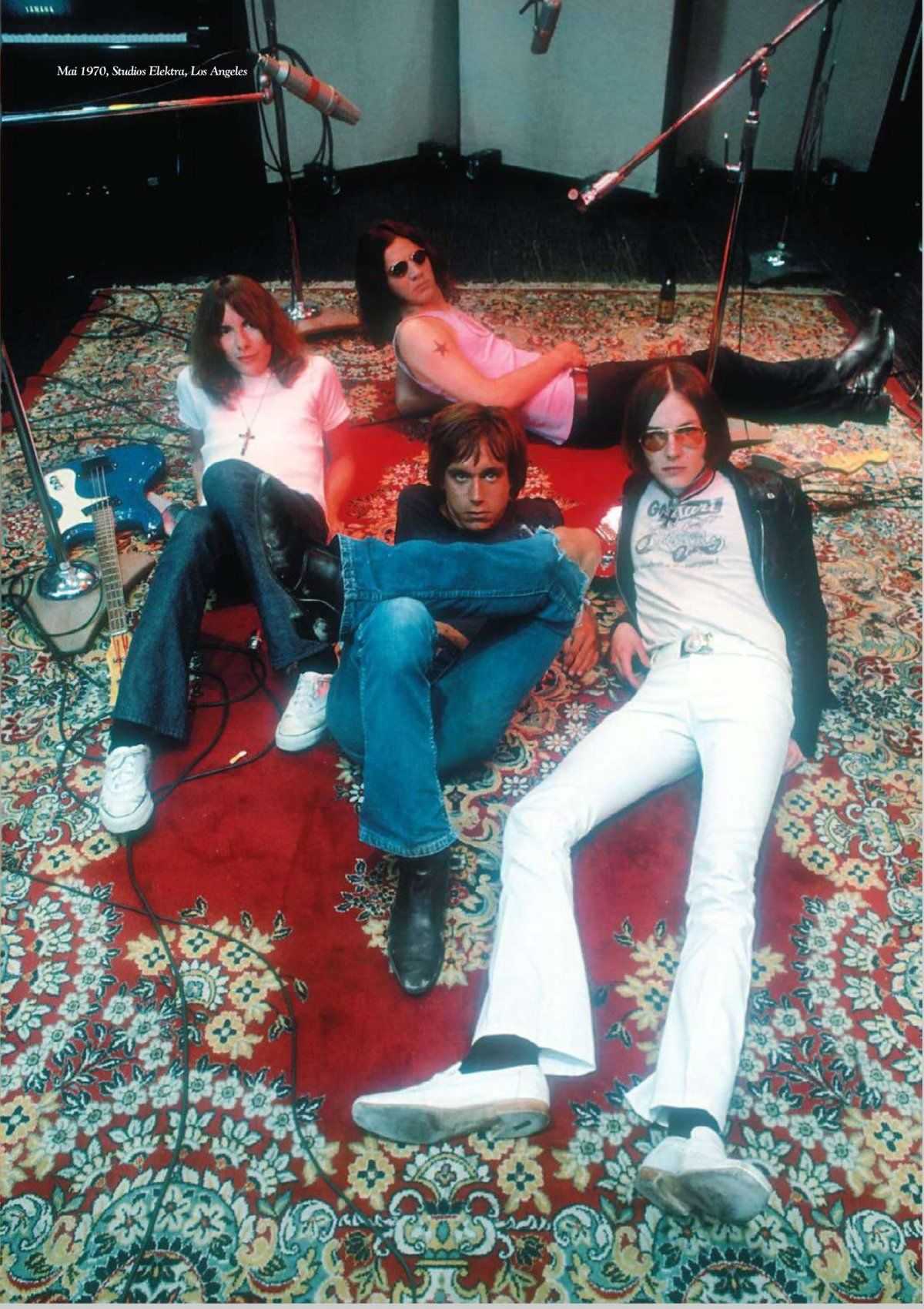 The Stooges photographed by Ed Caraeff, Funhouse recording sessions, NY,  1970. | The stooges, Iggy and the stooges, Iggy pop