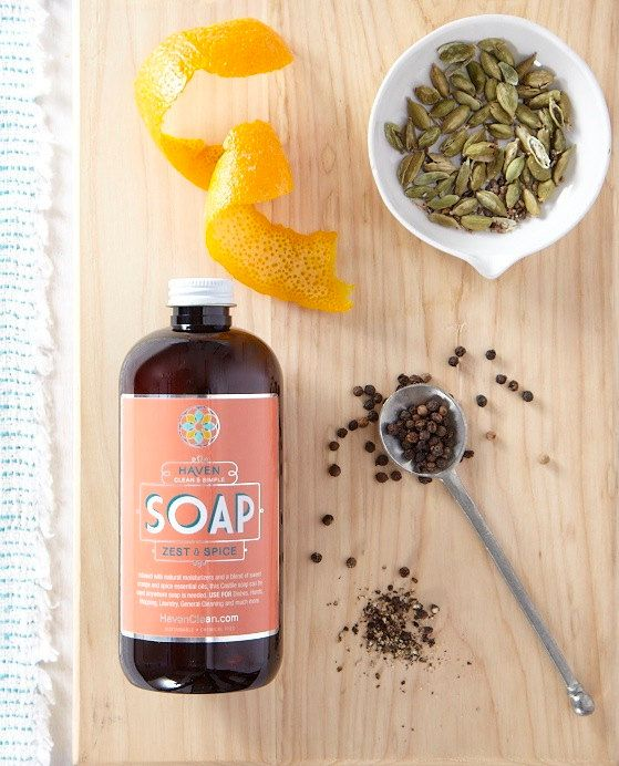 Castile Soap 12 Oz Sweet Orange Zest Cardamom Packaging