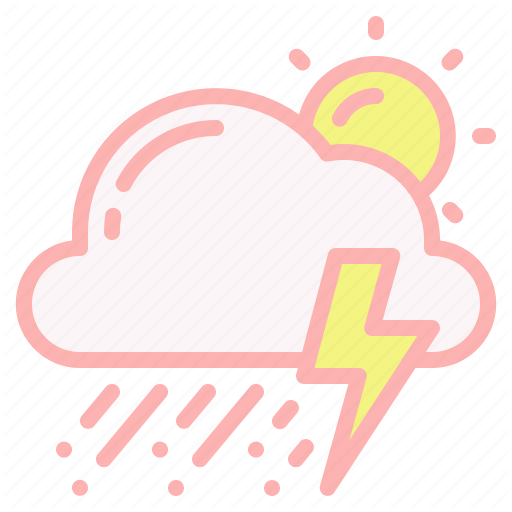 Cloud Thunder Storm Weather Hail Day Sun Icon In 2020 Icon Weather Icons Corporate Brochure Cover