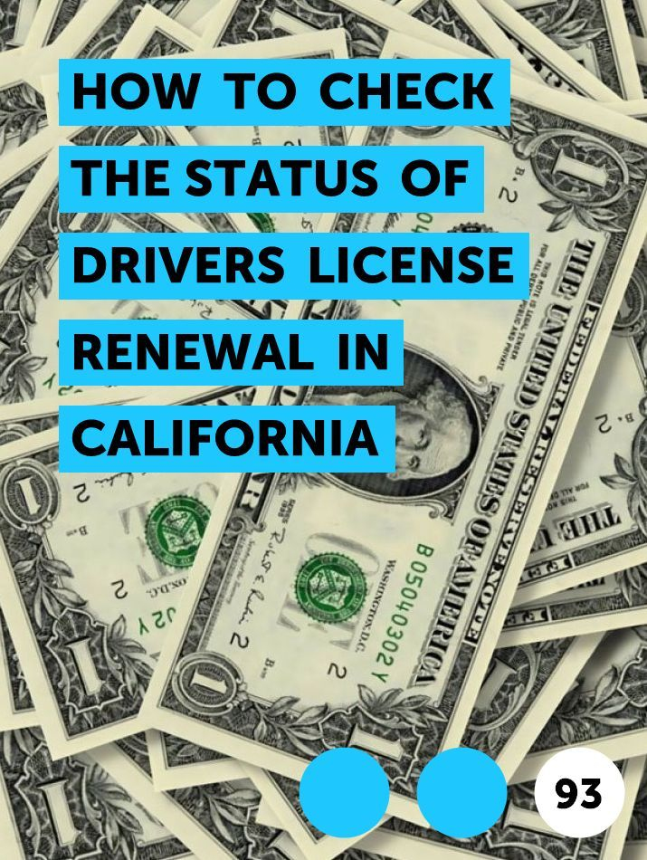 How to Check the Status of Drivers License Renewal in
