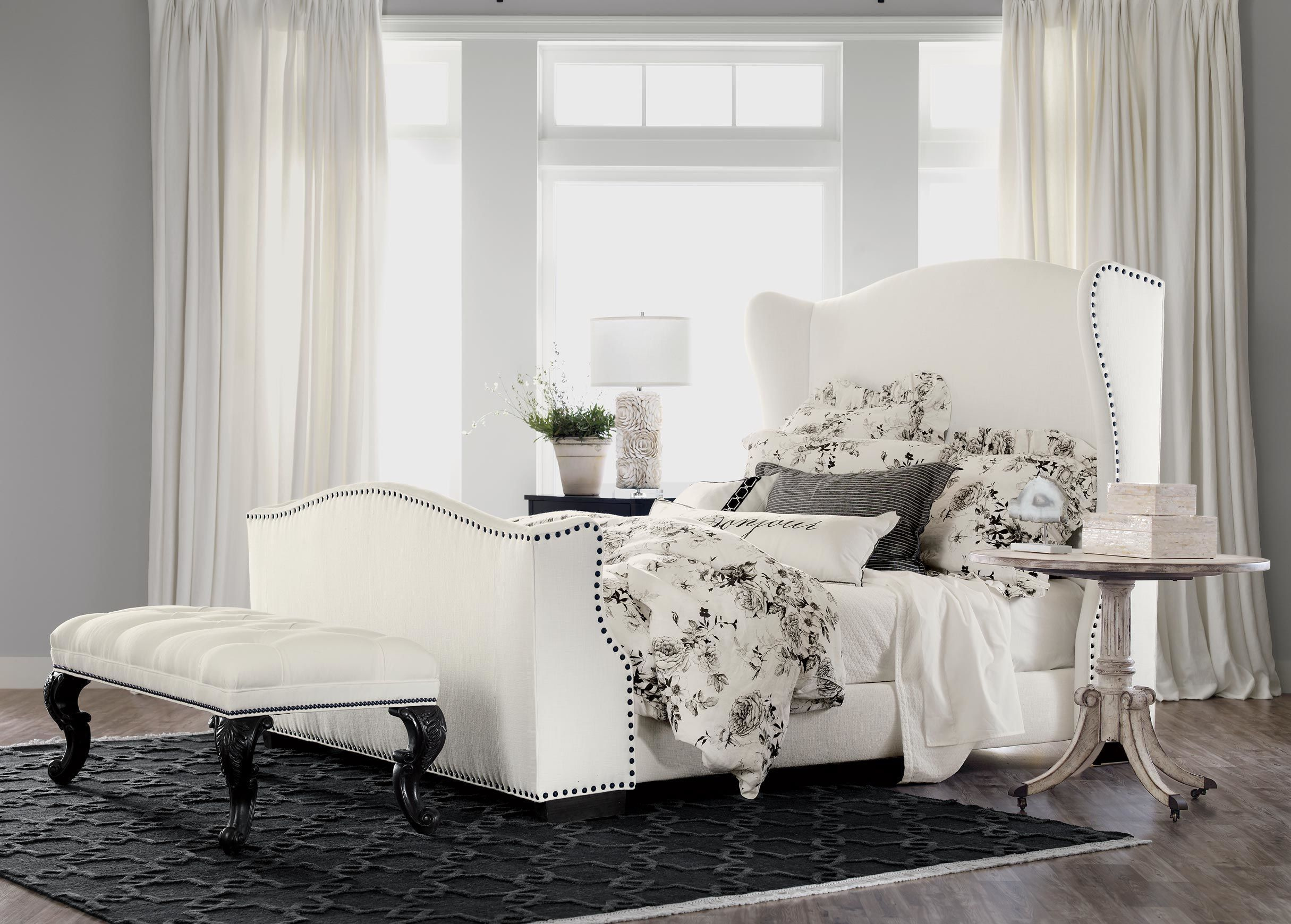 Ethan allen platform bed - Kayla Bed With Tall Footboard Beds Ethan Allen