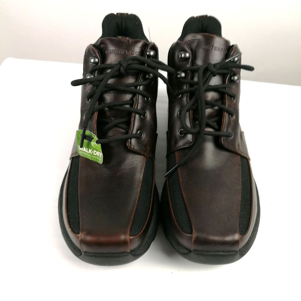 Rockport Xcs Mens Hiking Boots Waterproof Sz 8 Us Brown Leather Tags