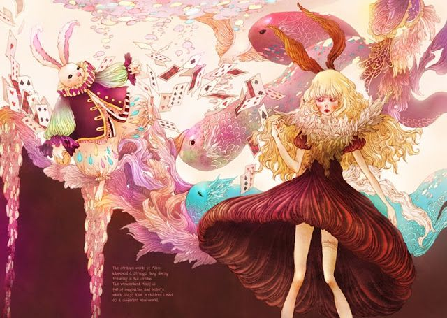 Alice in Wonderland illustrated by Song Gum Jin