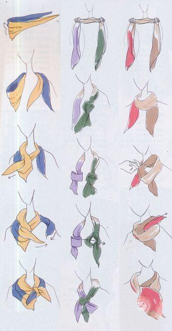 Schals & Tücher trendig binden