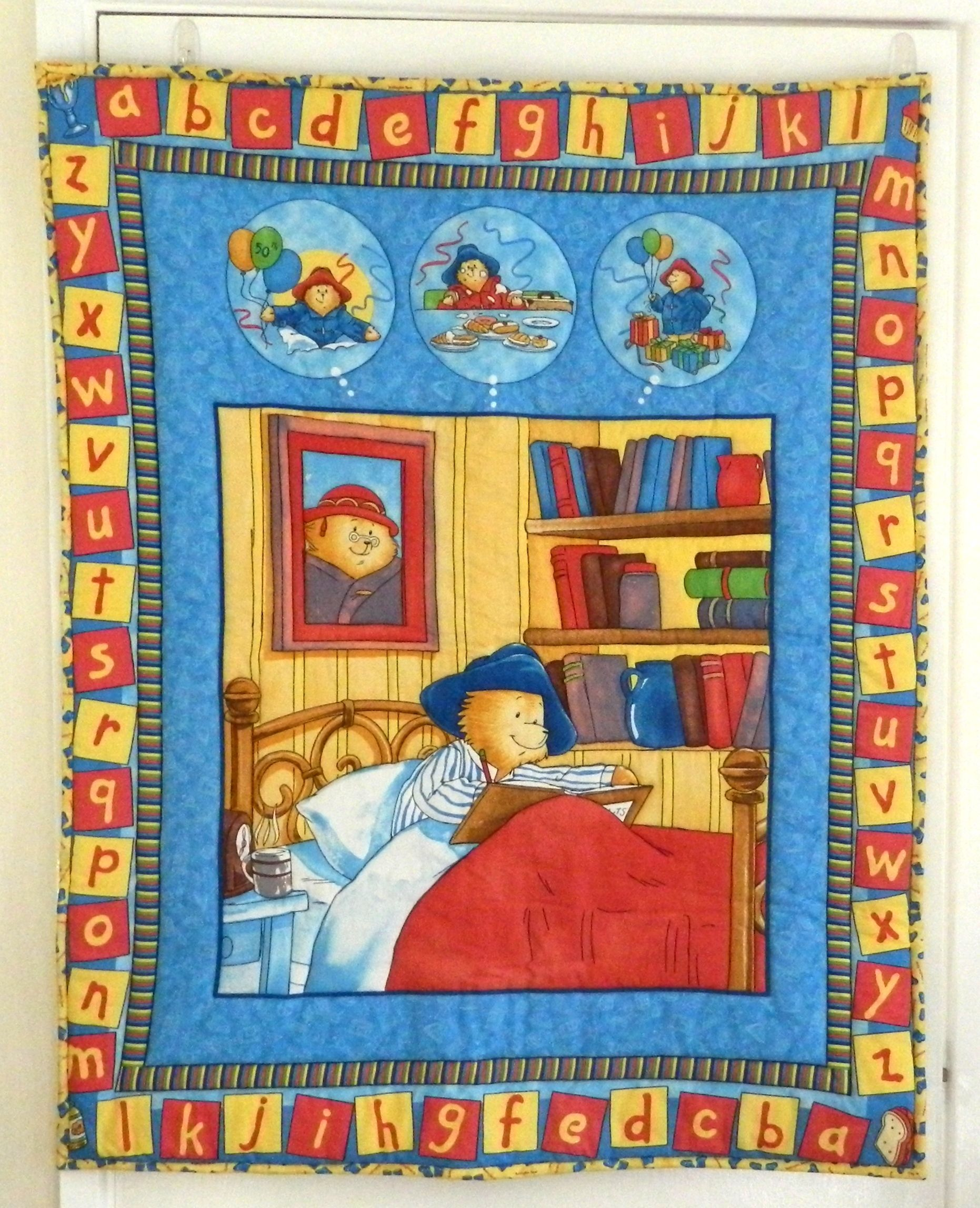 Paddington Bear Quilt. Here he is sitting up in bed surrounded by ... : paddington bear quilt - Adamdwight.com