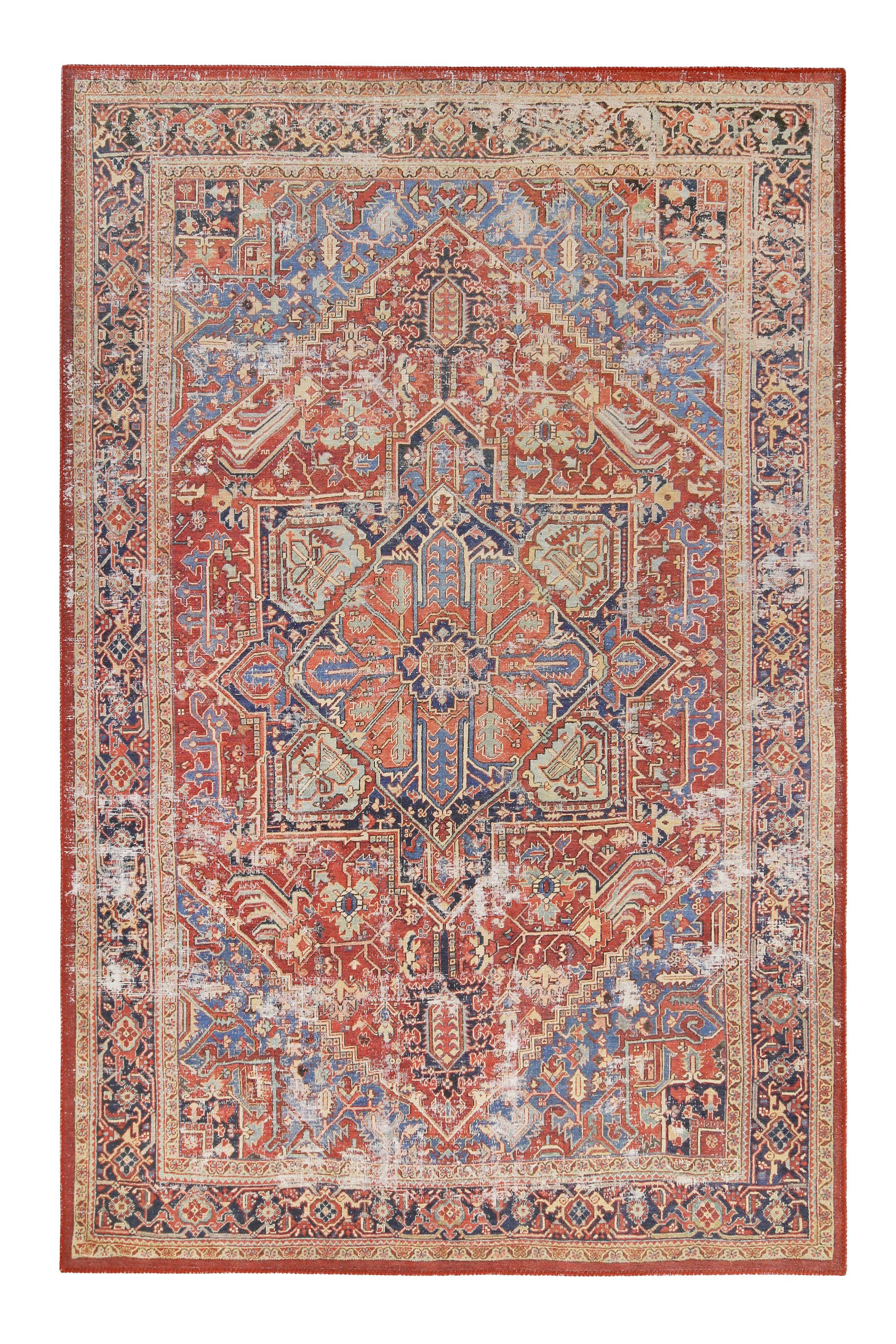 Vintage Orient Teppich Rot Blau Como Homie Living Vintage Teppiche Teppich Teppich Beige