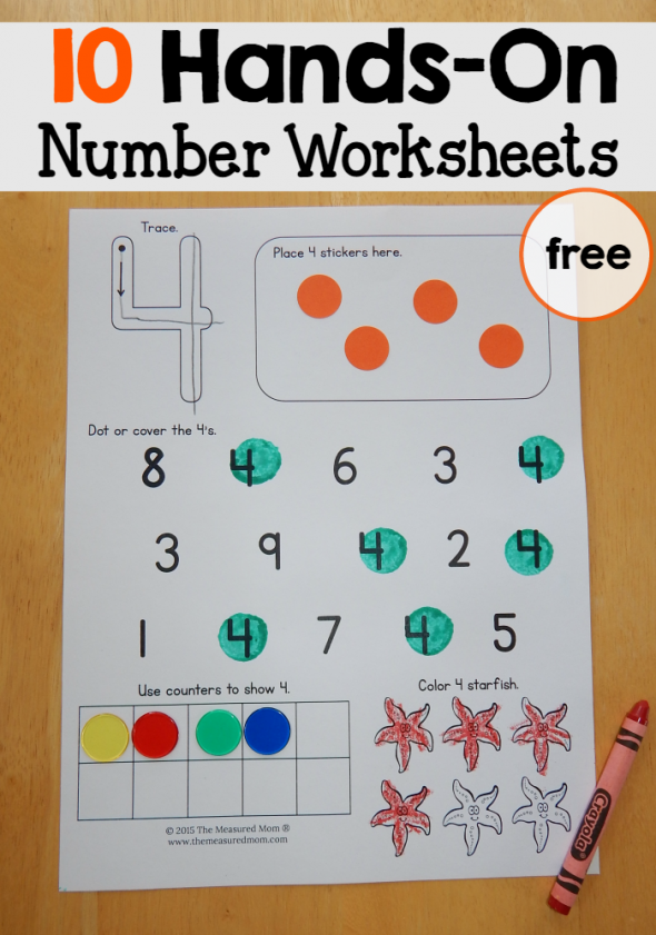 Free number worksheets 110 – Counting Worksheets for Preschool
