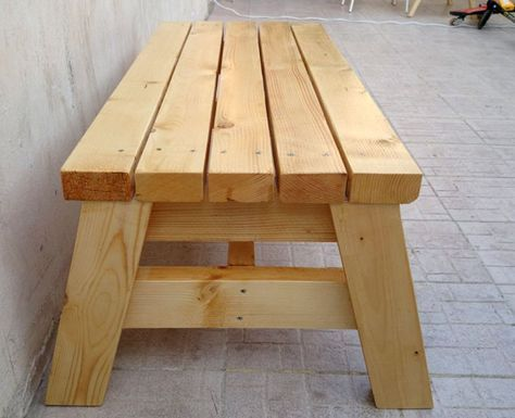 How To Build A Simple Sitting Bench \u2013 Jays Custom Creations - como hacer bancas de madera para jardin