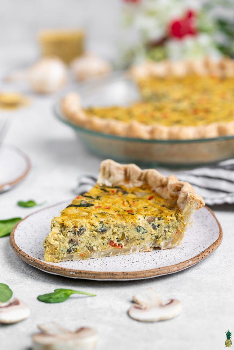 Easy Vegan Spinach Artichoke Quiche Must Try Recipe Best Vegan Breakfast Easy Vegan Recipes