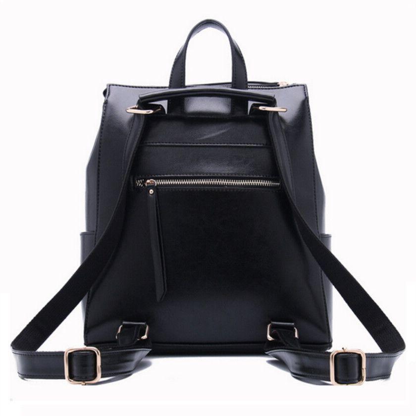 women black leather backpack female fashion office bag ladies work bags  stylish backpacks for teenage girls mochilas femininas 67350c99a30a7