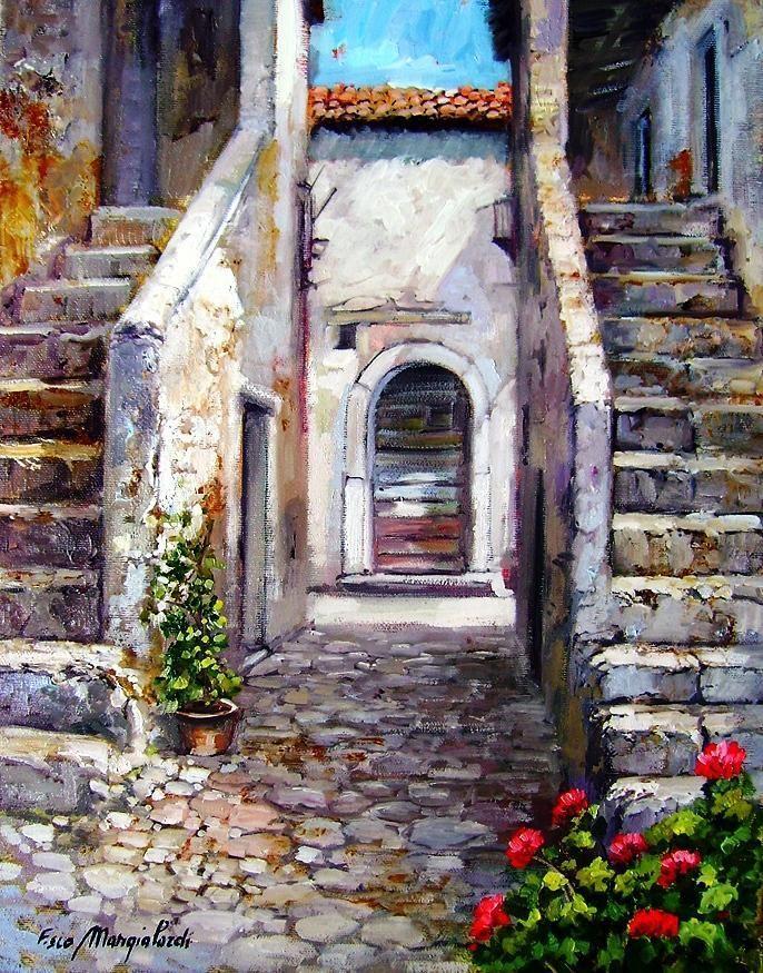 Pin von Shid Amir auf Watercolor | Pinterest | Gebäude, Türen und ...