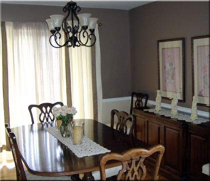 Painting With Chair Rail Dark On Top Lighter But Not White On Impressive Dining Room Colors With Chair Rail Inspiration