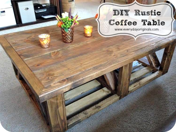 Instructions On How To Build Your Own Rustic Coffee Table Takes Time But Saves