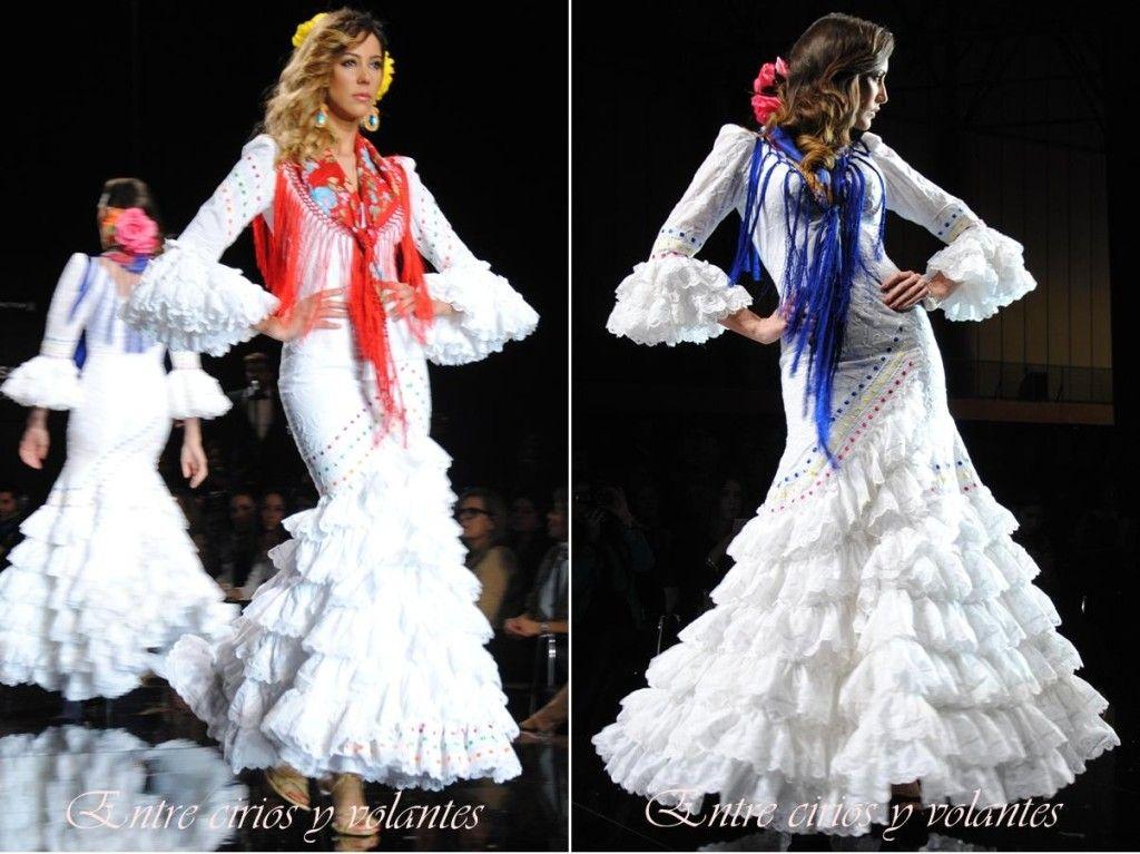 La pureza del blanco en #trajesdeflamenca de Pilar Vera. #Simof2014.