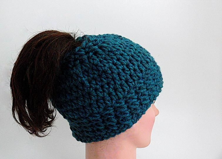 Free Pattern: Arielle Chunky Messy Bun Hat - American Version ...