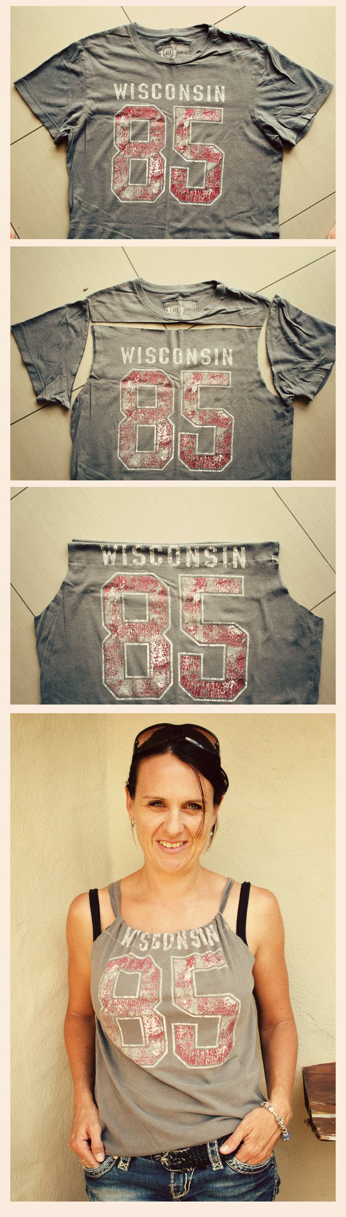 Tshirt re-styling - I am SO doing this with my old concert tees