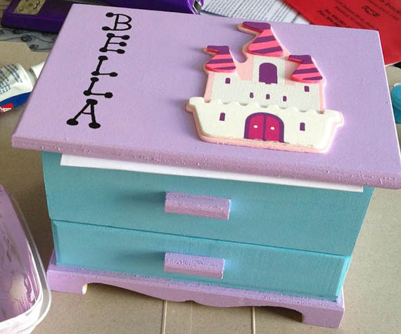 Girls Jewelry Box Customized Personalized Toddler Box By