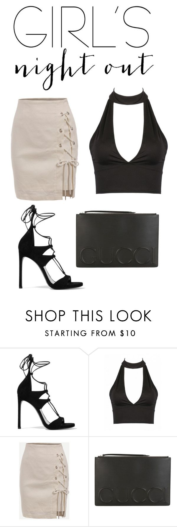 """""""basically"""" by valeria-ros ❤ liked on Polyvore featuring Stuart Weitzman, Gucci and girlsnightout"""