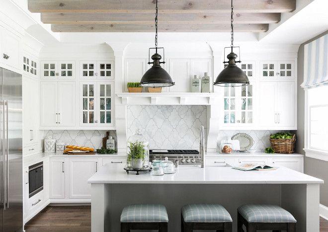 Interior design ideas white farmhouse kitchen also dream house rh pinterest