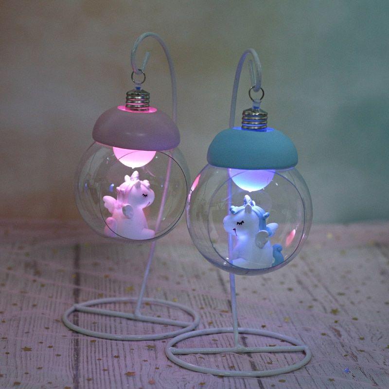 Resin Unicorn Led Lamps Unicorn Room Decor Cute Night Lights Kawaii Room