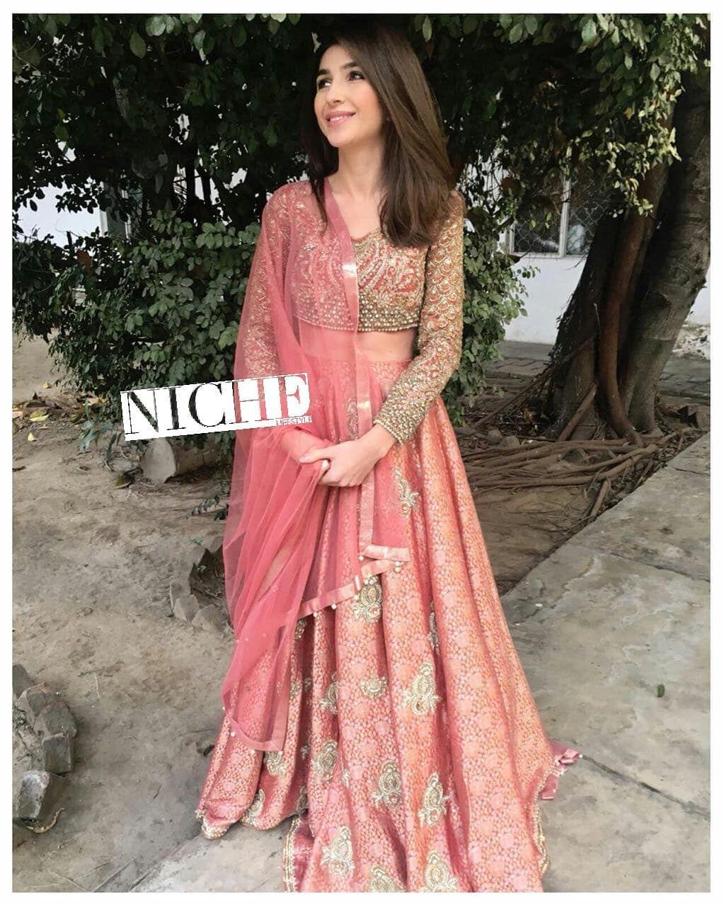 Faraz Manan pink lengha | Ideal Closet | Pinterest