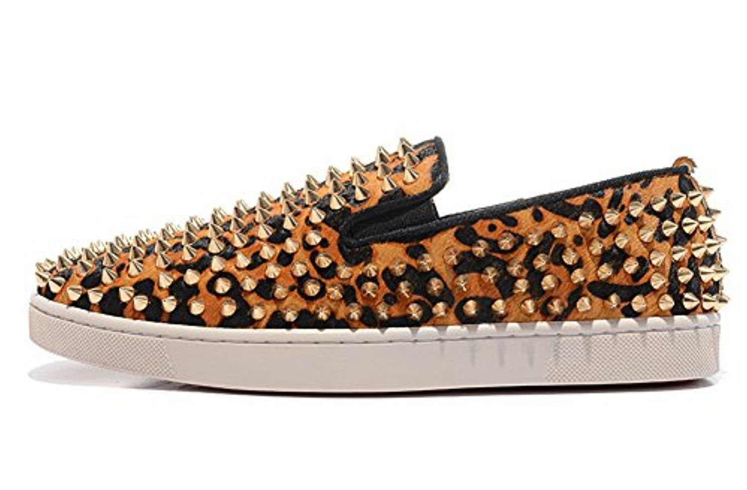 NORU SHOES Men's Lo-top Leopard Shoes Roller-Boat Python Palette Loafers -- Awesome products selected by Anna Churchill