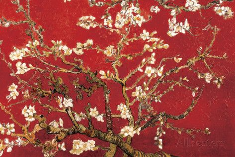 Almond Blossom Red Posters Vincent Van Gogh Allposters Com Van Gogh Almond Blossom Red Wall Art Poster Prints