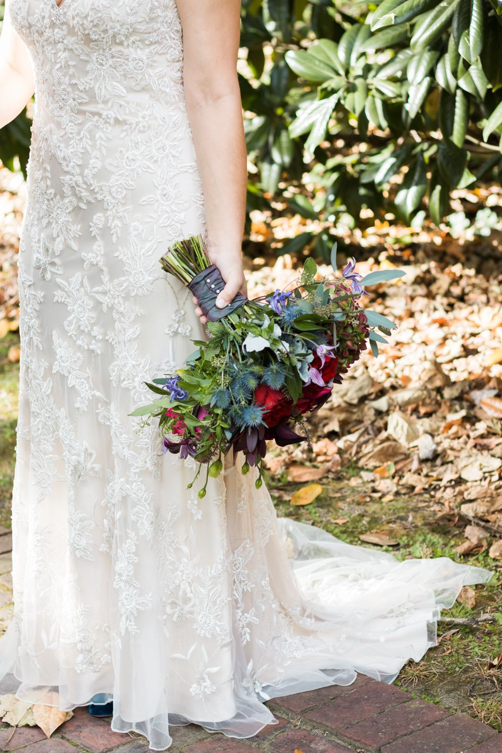 Fall outdoor wedding dresses  Morgan Newsom Photography fall wedding at Memphis Annesdale Mansion