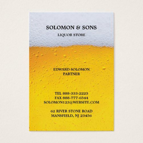 Liquor Beer Store Chubby Business Card Business Cards Pinterest
