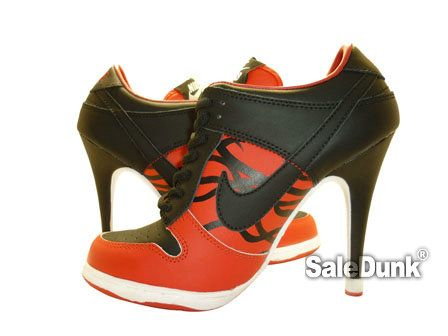 Red Black Nike Dunk High Heels wholesale pricefast shipping