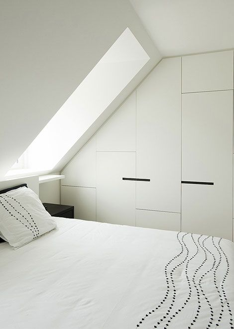 skylight + millwork - add interest to a minimal white space
