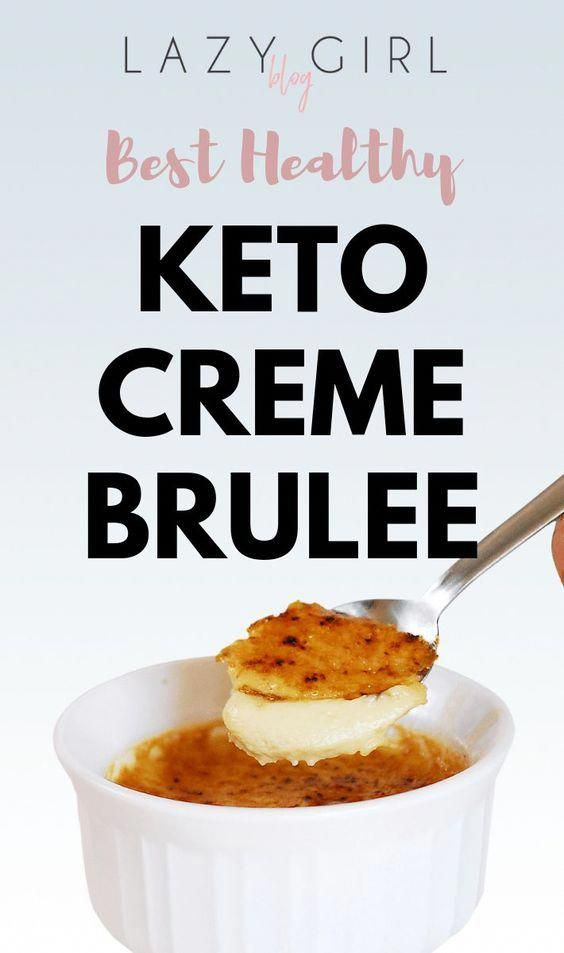 Keto Creme Brulee This low-carb creme brulee is creamy and decadent, but sugar free. Smooth custard...
