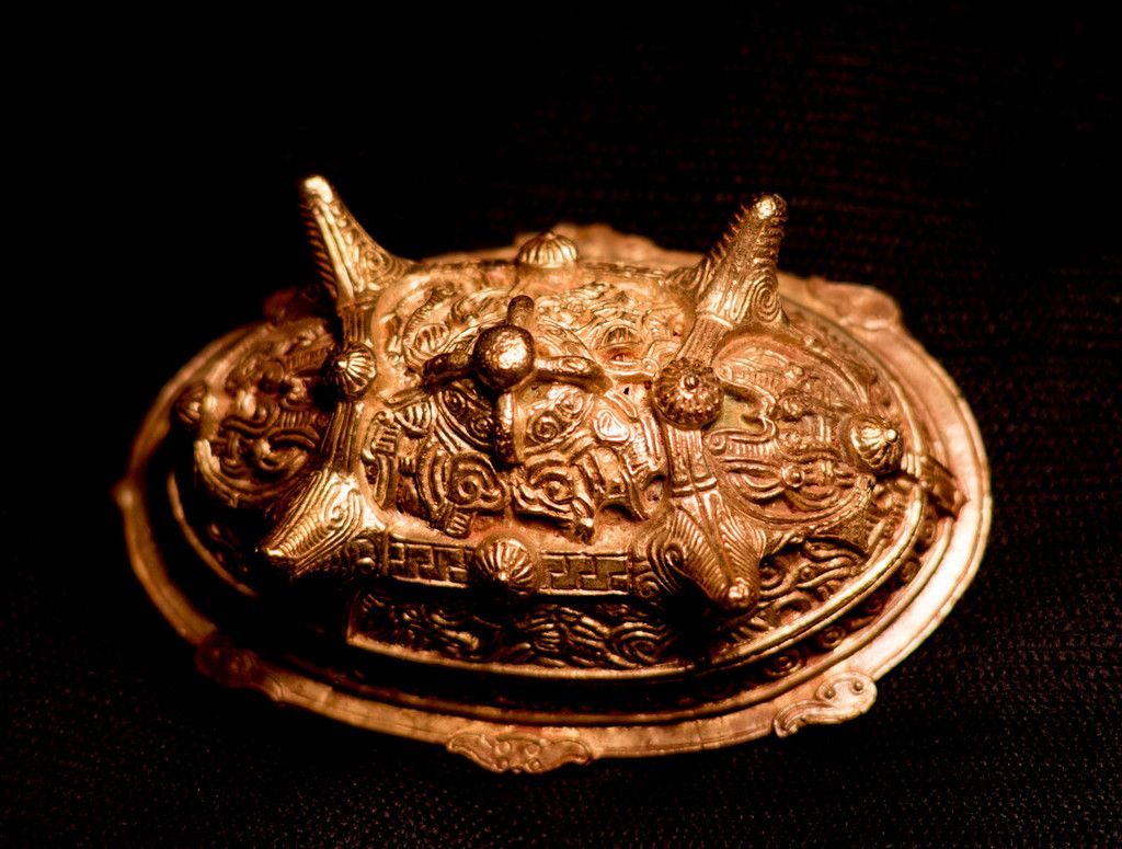 Russian Turtle Brooch, large, with knobs - TB15