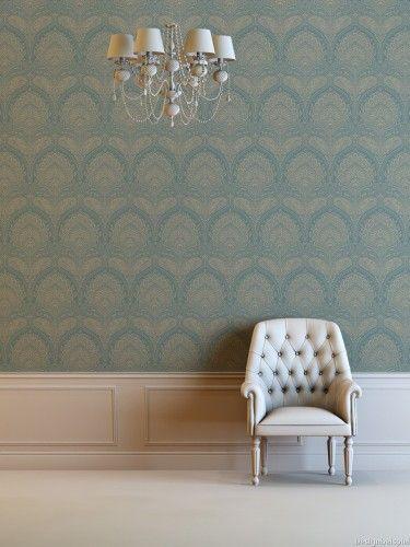 Vliestapete Barock gold grau Tapeten Rasch Textil Como 327747 - tapeten wohnzimmer grau