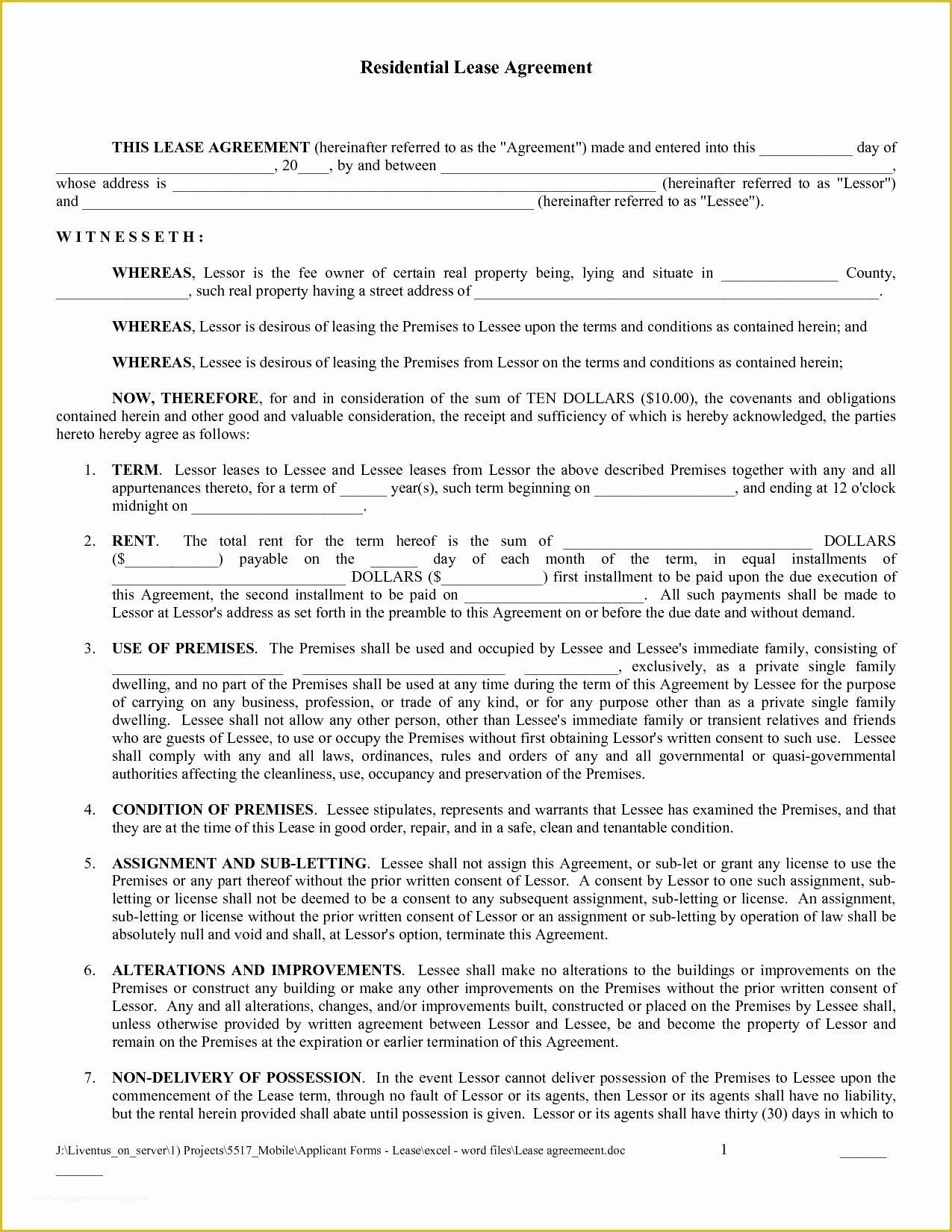 Free Blank Lease Agreement Template Of Editable Blank Rental Agreement Example For E In 2021 Lease Agreement Lease Agreement Free Printable Rental Agreement Templates