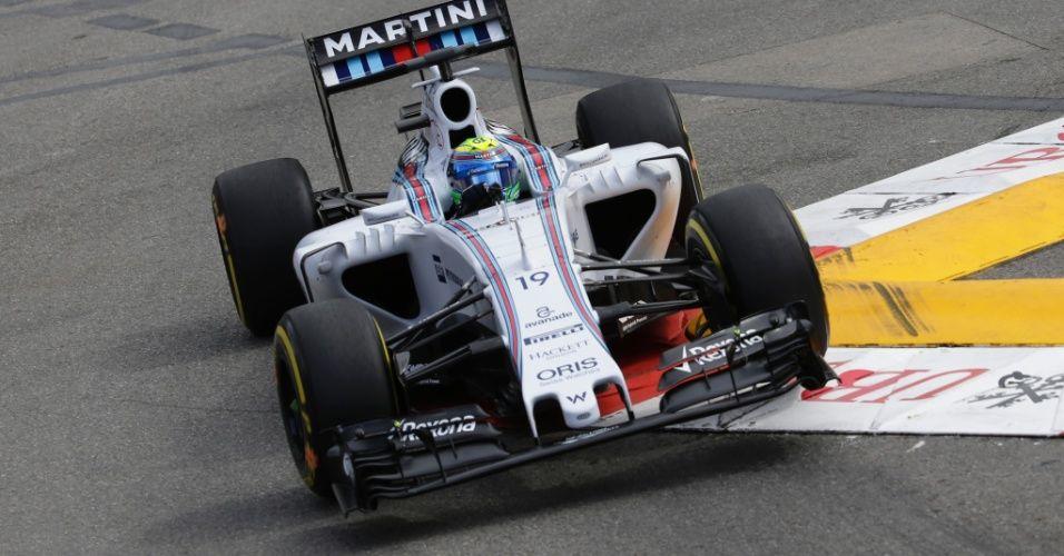 Felipe Massa conduz sua Williams durante os treinos livres para o GP de Mõnaco