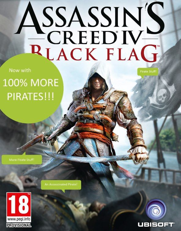 The New Assassin S Creed Black Flag Now With More Pirates Ps3 Wiiu Xbox 360 Pc Assassins Creed Black Flag Assassins Creed Game Assassin S Creed Black