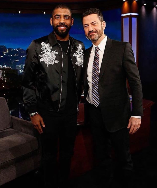 3bbab07c404  KyrieIrving and Jimmy Kimmel. I wish I had a picture of his sneakers  because they were bomb.
