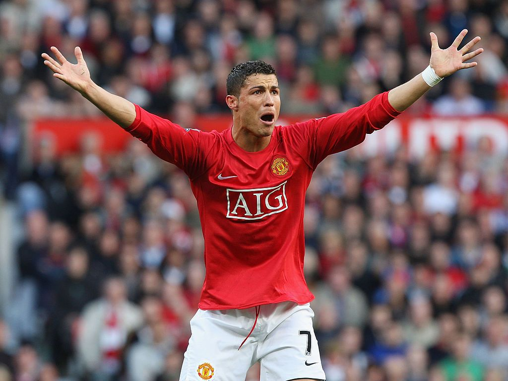 Get Great Cristiano Ronaldo Manchester United Wallpapers MANCHESTER, ENGLAND - APRIL 25: Cristiano Ronaldo of Manchester United appeals for handball during the Barclays Premier League match between Manchester United and Tottenham Hotspur at Old Trafford on April 25 2009 in Manchester, England. (Photo by John Peters/Manchester United via Getty Images)