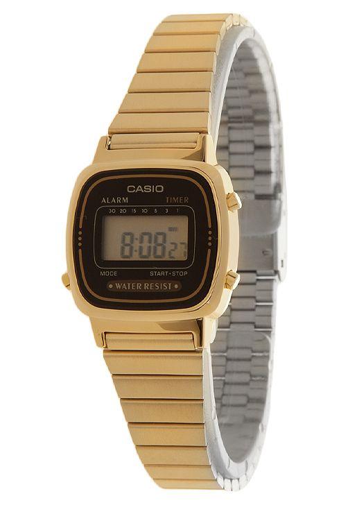 7116a935f45 Relógio Casio LA670WGA-1DF Dourado - Compre Agora